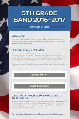 5th Grade Band 2016-2017