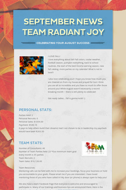 September News   Team Radiant Joy
