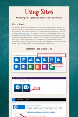 Using Sites