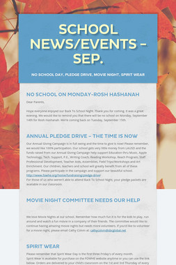 School News/Events - Sep.