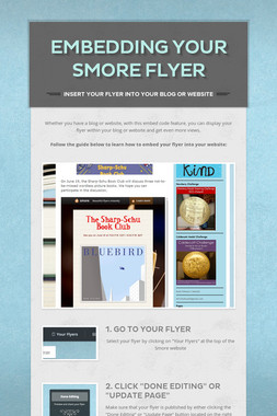 Embedding your Smore Flyer