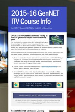 2015-16 GenNET ITV Course Info