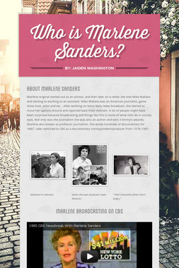 Who is Marlene Sanders?