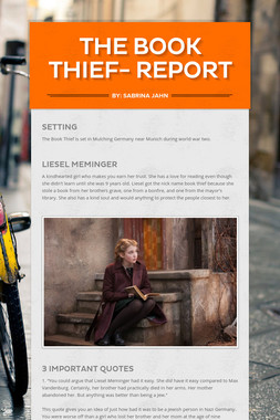 The Book Thief- Report