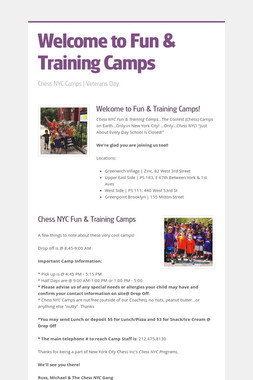Welcome to Fun & Training Camps