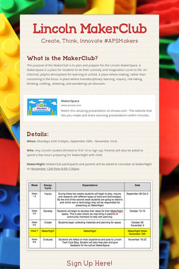 Lincoln MakerClub