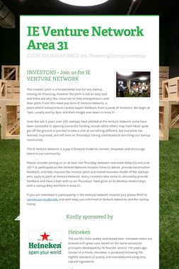 IE Venture Network Area 31
