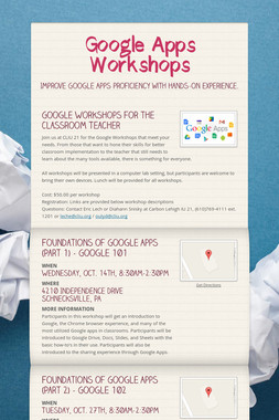Google Apps Workshops