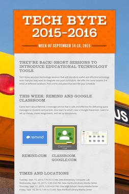 Tech Byte 2015-2016