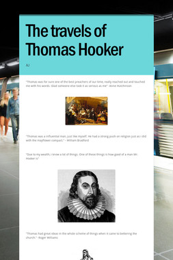 The travels of Thomas Hooker