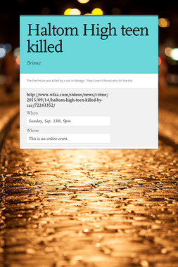 Haltom High teen killed