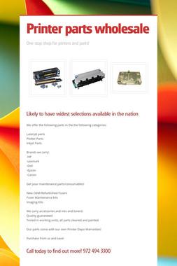 Printer parts wholesale