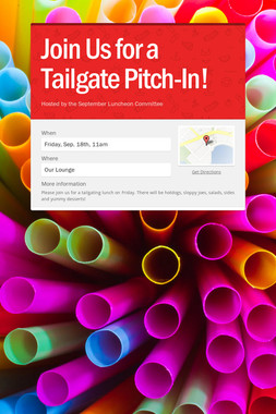 Join Us for a Tailgate Pitch-In!
