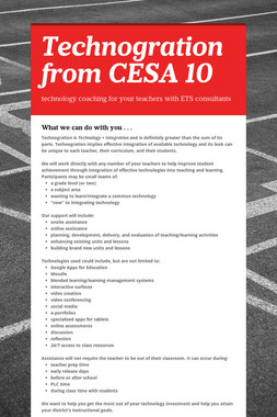 Technogration from CESA 10
