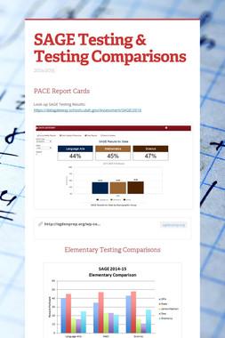 SAGE Testing & Testing Comparisons