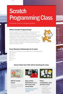Scratch Programming Class
