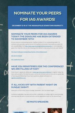 Nominate Your Peers for IAG Awards!