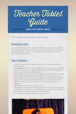 Teacher Tablet Guide