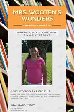 Mrs. Wooten's Wonders