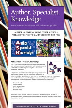 Author, Specialist, Knowledge