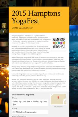 2015 Hamptons YogaFest
