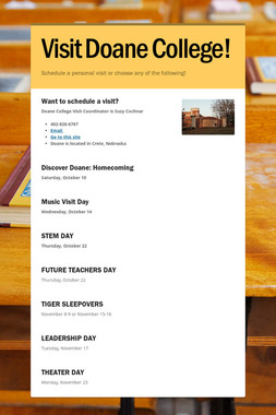Visit Doane College!