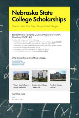 Nebraska State College Scholarships