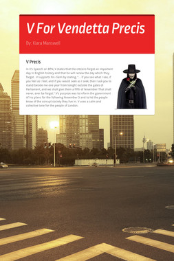 V For Vendetta Precis