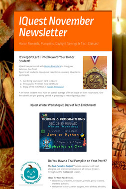 IQuest November Newsletter