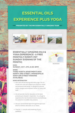 Essential Oils Experience Plus Yoga