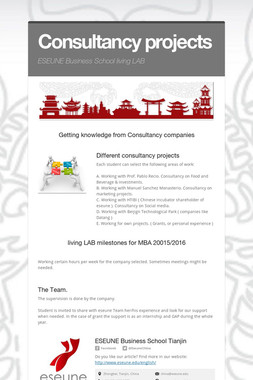 Consultancy projects