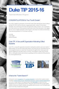 Duke TIP 2015-16