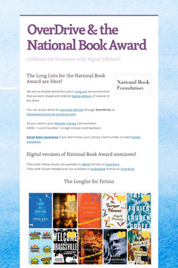OverDrive & the National Book Award
