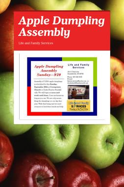 Apple Dumpling Assembly