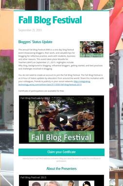 Fall Blog Festival
