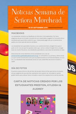 Noticias Semana de Señora Morehead