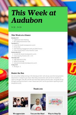 This Week at Audubon