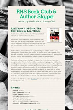 RHS Book Club & Author Skype!