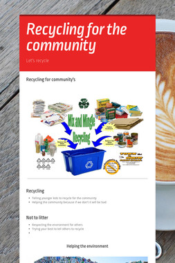 Recycling for the community
