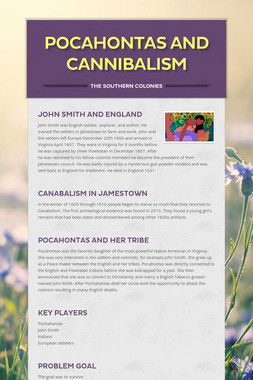 Pocahontas and Cannibalism