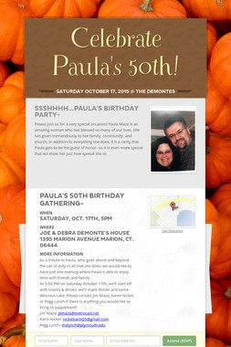Celebrate Paula's 50th!