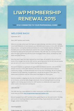 LIWP Membership Renewal 2015