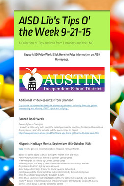 AISD Lib's Tips O' the Week 9-21-15