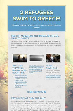 2 Refugees swim to Greece!