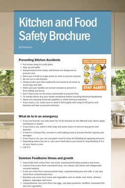 Kitchen and Food Safety Brochure