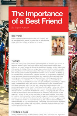The Importance of a Best Friend