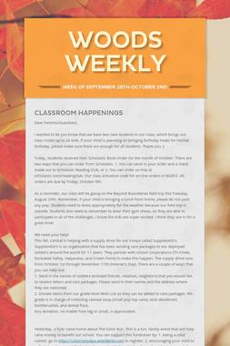 Woods Weekly