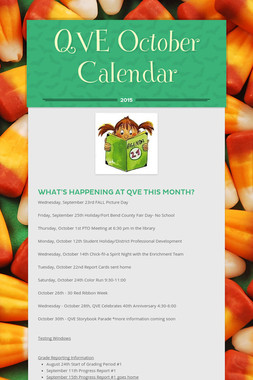QVE October Calendar
