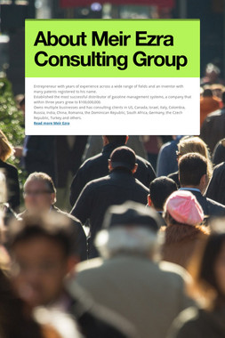 About Meir Ezra Consulting Group