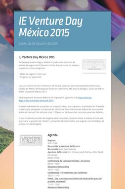 IE Venture Day México 2015